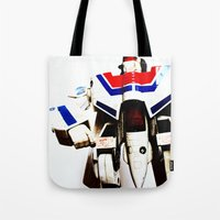 Let's Fight Like Robots Tote Bag