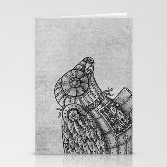 Clockwork Bird  Stationery Card