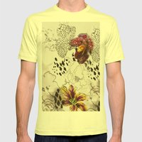 Orchids Mens Fitted Tee Lemon SMALL