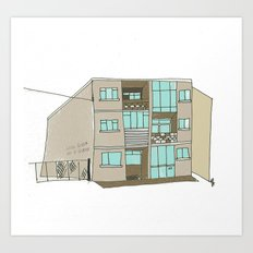 The Building across from the Blue Note. Galway city. Art Print