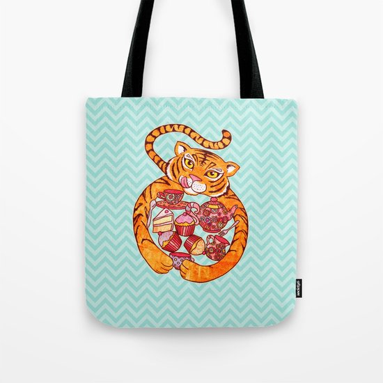 Tiger's Tea Tote Bag
