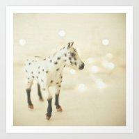 Horse in Winter Art Print