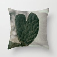Padded Heart Throw Pillow