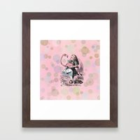 Alice plays Croquet Framed Art Print