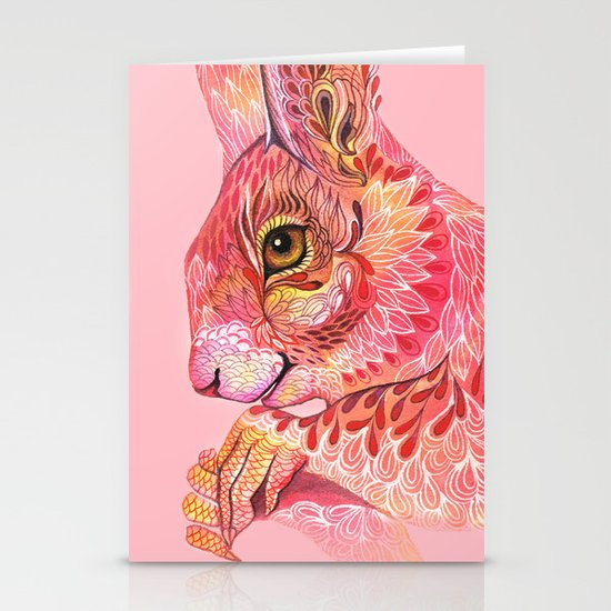 The squirrel magic  Stationery Card
