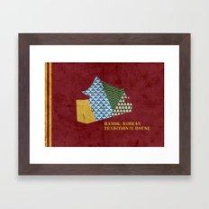 HANOK(한옥) Framed Art Print