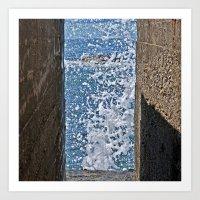 BLUE AQUATIC DREAMS  Art Print