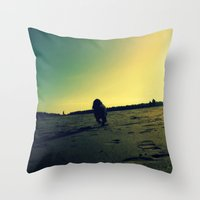 Dog's Life Throw Pillow