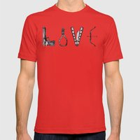 Love Is Death Part II Mens Fitted Tee Red SMALL