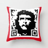 QR- Che Throw Pillow