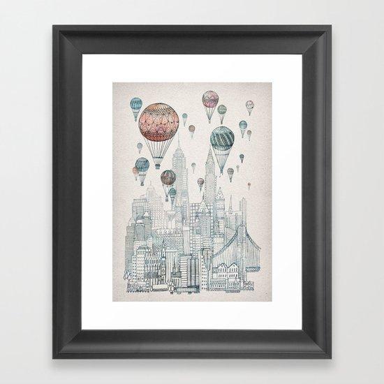 Voyages Over New York Framed Art Print By David Fleck