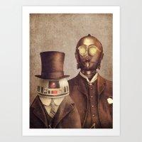 Victorian Robots  Art Print