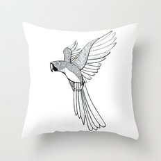 parakit sketch Throw Pillow