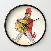 López, Bass Drum Wall Clock