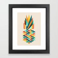 Groovy Pineapple Framed Art Print