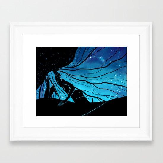 Meeting the Goddess Framed Art Print