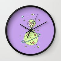 Space Dinosaur Wall Clock