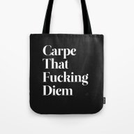 Tote Bag featuring Carpe by WRDBNR
