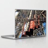 eiffel Laptop & iPad Skins featuring Eiffel by Mario Sa