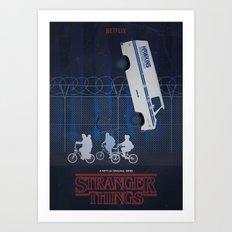 Stranger Things fan art Art Print