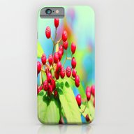 iPhone & iPod Case featuring Red Autumn Berrys by Die Farbenfluesterin