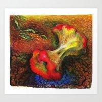 Apple and Compost Art Print