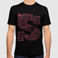 Monster Doodle Mens Fitted Tee Black SMALL