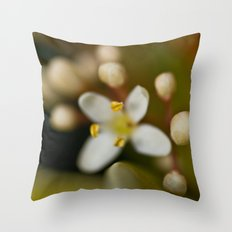 Blossom budding Throw Pillow