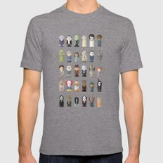 Horror Icons Mens Fitted Tee Tri-Grey SMALL