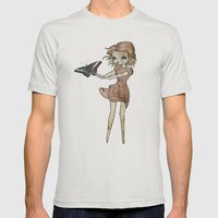 Flutter By Mens Fitted Tee Silver SMALL
