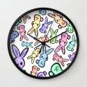 Pastel Bunnies Wall Clock