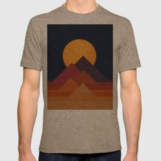 Full Moon And Pyramid Mens Fitted Tee Tri-Coffee SMALL