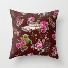 Ecto Floral Throw Pillow