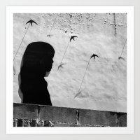 Girl in Córdoba Art Print