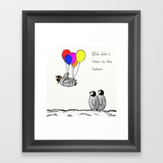 To Be A Flying Penguin  Framed Art Print
