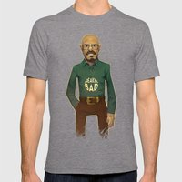 Walter White Mens Fitted Tee Tri-Grey SMALL