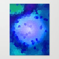 Aqua Stained Canvas Print