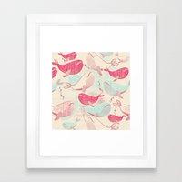 Whale ReUnion Framed Art Print