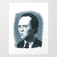 Christofer Walken In Blu… Art Print