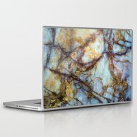 stripes Laptop & iPad Skins featuring Marble by Patterns and Textures