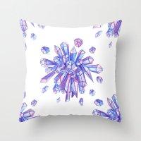 Zero Gravity Crystals II Throw Pillow