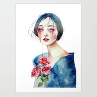 Woman Are Made Of Water Art Print