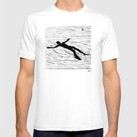 La Mer Mens Fitted Tee White SMALL