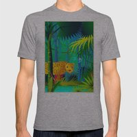 Panther Mens Fitted Tee Athletic Grey SMALL