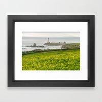 The lighthouse of highway 101 Framed Art Print