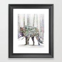Winter Wonder Dog Framed Art Print
