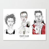 Fight Club - Triptych Canvas Print