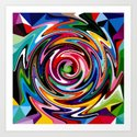 multi-coloured craze Art Print