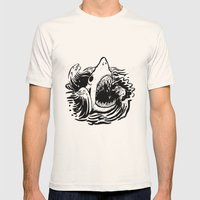 Shark off Mens Fitted Tee Natural SMALL