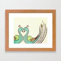 Peacock Love Framed Art Print